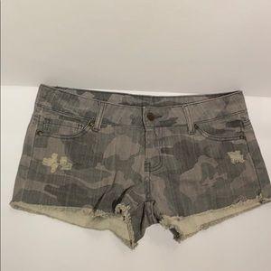 (3) CAMO Denim Shorts - size 3 - EUC !!!!